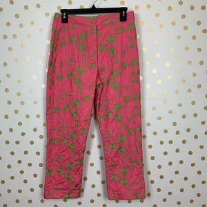 VTG Lilly Pulitzer Floral Embroidered Capri Pants